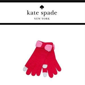 Kate Spade Gloves with Color Block Bow NWT